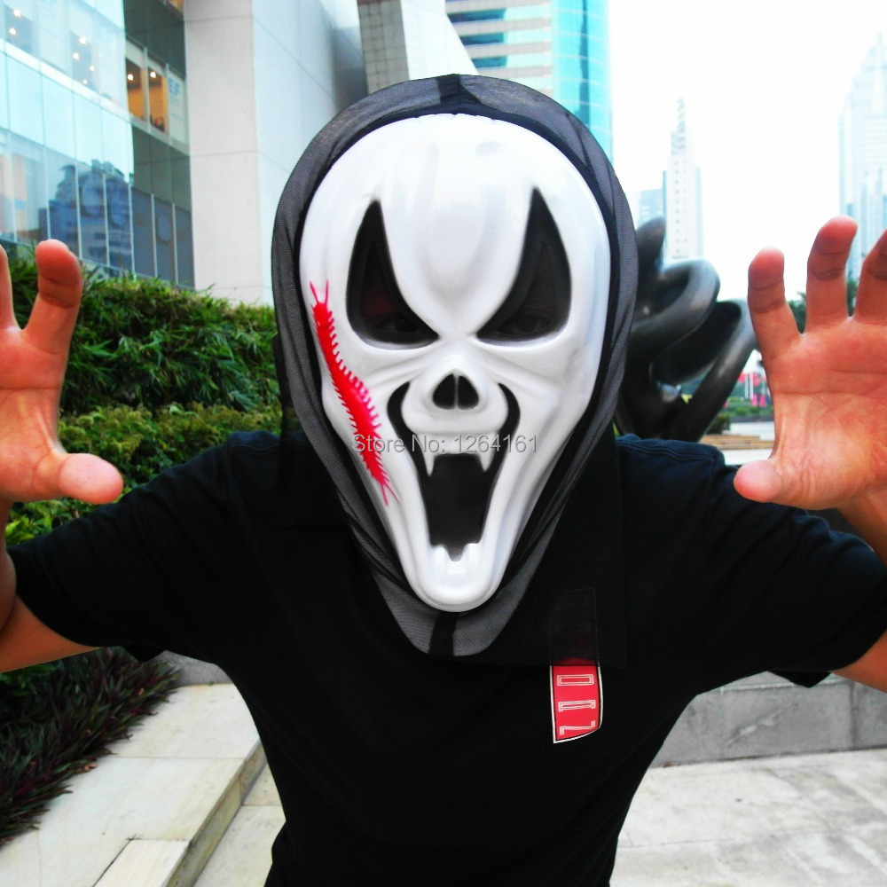 Halloween Scream Mask Hooded/Ghostface Mask/Ghost face/Scream the ...