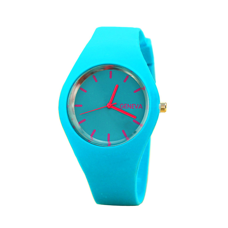 Perfect Gift watches for women Leisure Sports Candy-colored Jelly quartz-watch Silicone Strap ladies bracelet 2018