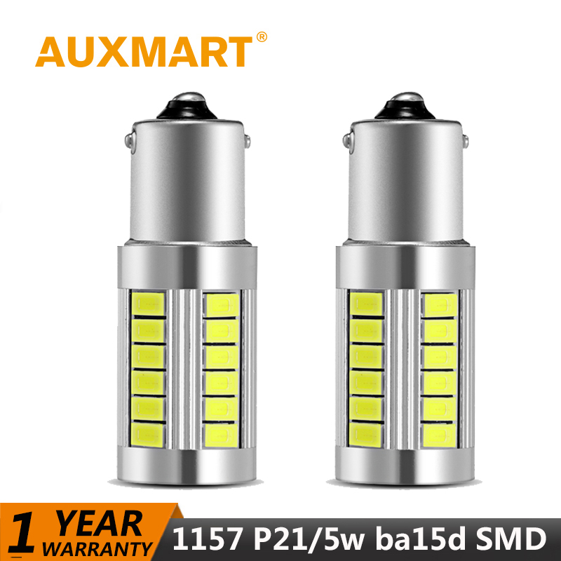 Auxmart Car Light p21/5w 1157 ba15d Canbus Led Bulb Universal Auto Lamp 33W SMD Car-styling lights for Audi BMW Ford Toyota jeep