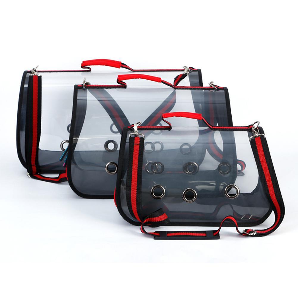 Adeeing Portable Transparent sac à main pour animaux de compagnie transporteur sacs de voyage confortables sacs simples pour chat chien chiot