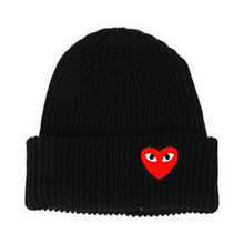 High Fashion Autumn Winter Caps Heart Eyes Cartoon Label Beanies Women Men Gorras Knit Warm Skullies Ski Bonnets Hats S-MZ00858