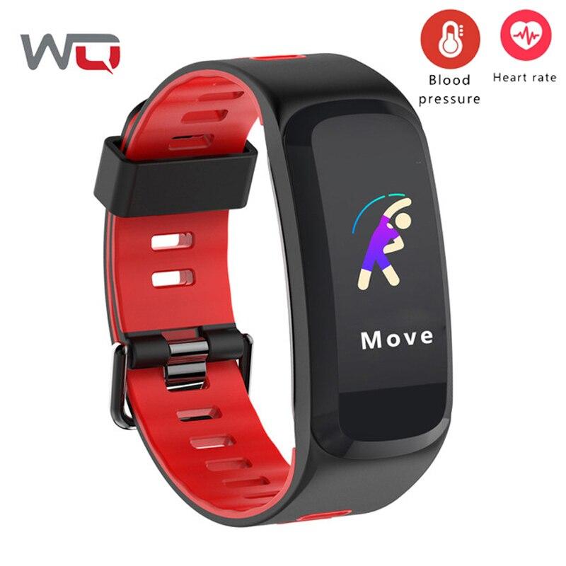 WQ F4 bracelet connecté Coeur Taux La Pression Artérielle D'oxygène bracelet intelligent Multi Sport Mode traqueur de remise en forme 30 m bracelet étanche