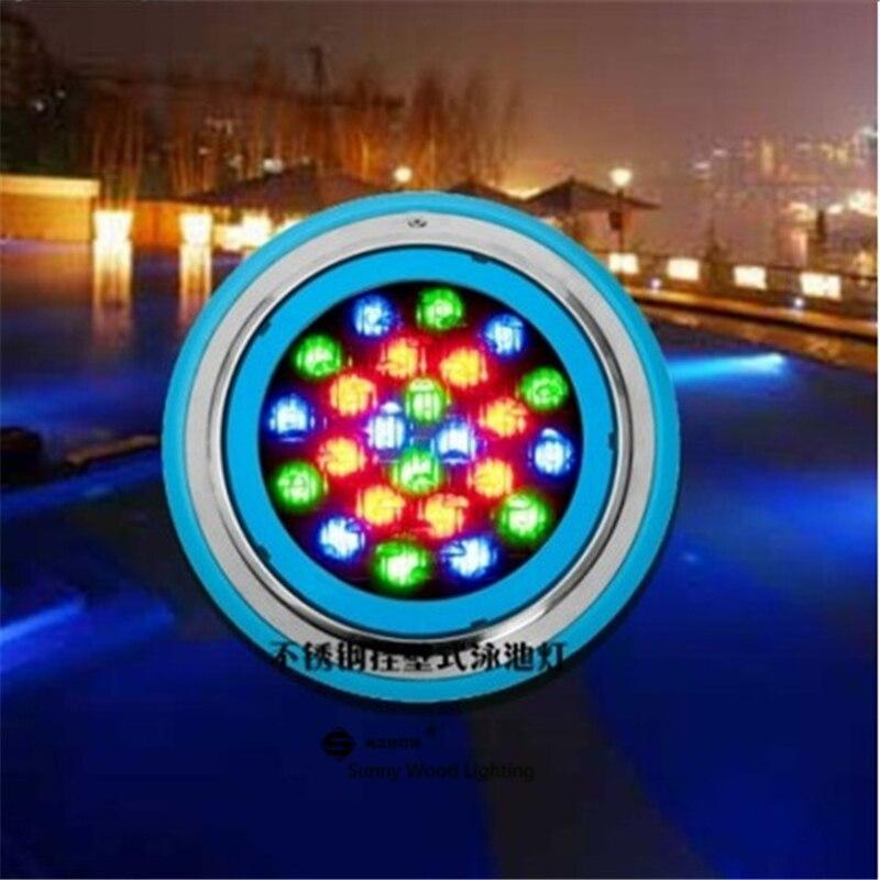 Livraison gratuite en acier inoxydable mur monté LED Par56 lampe, LED piscine lampe, 24 w IP68 lampe sous-marine LPL-Par56-24W
