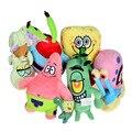 6pcs/set BOHS Pelucia Soft Plush Spongebob Patrick Star Squidward,Tentacles,Sheldon Plankton Gary Toys gift for children
