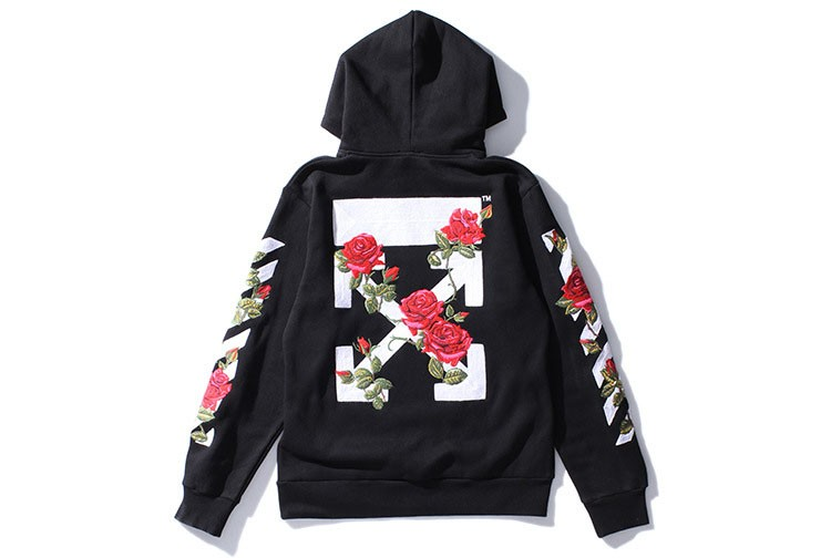 Aolamegs Men Hoodies Fashion Vintage Floral Embroidery Cardigan Jacket Hooded Zipper Outwear Off White Couples Red Black Hoodie (12)