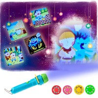 Story Projector Flashlight Baby Sleep LED Luminous Toys Baby Early Education Toys Children Projector Luminous Toy