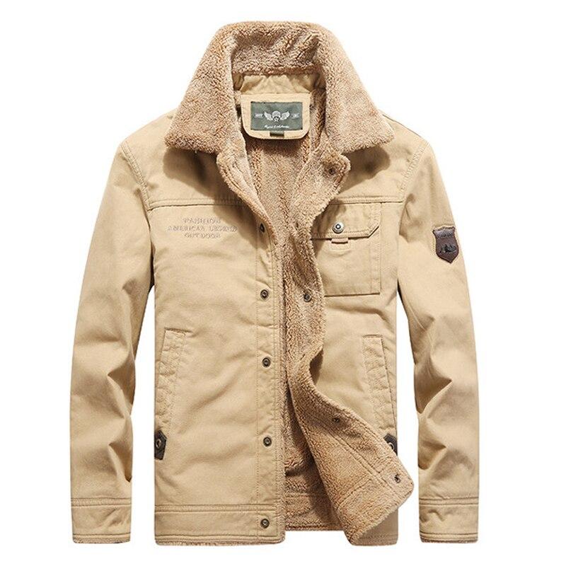 Parkas hommes hiver Bomber vestes militaire décontracté hommes manteau solide couleur Vintage hiver épais veste pour hommes vert kaki S112