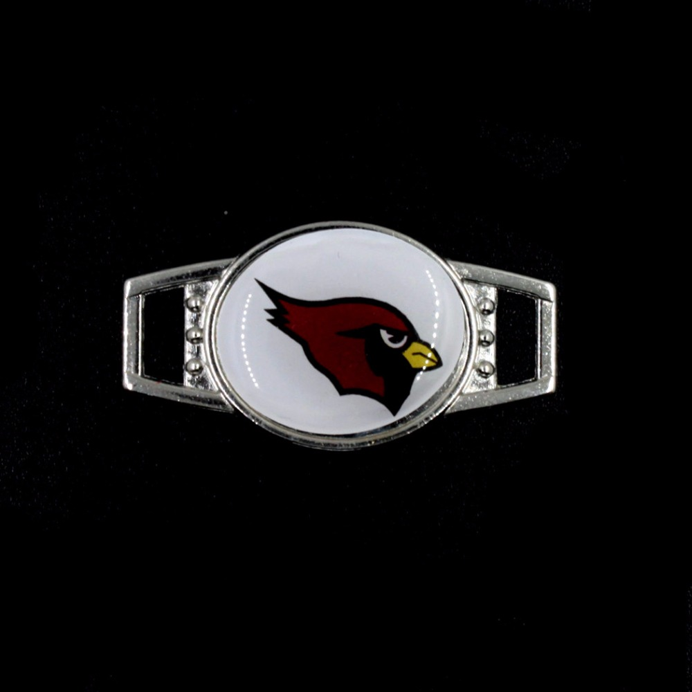 10PCS Football Fans Charms Jewelry Arizona Cardinals Sports Team Shoelace Charms DIY Bracelets Decoration Jewelry