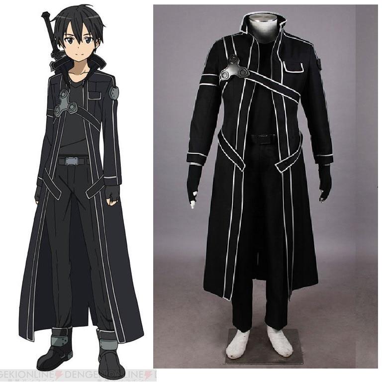 Sword Art Online Kirito Cosplay Costume-in Game Costumes ...