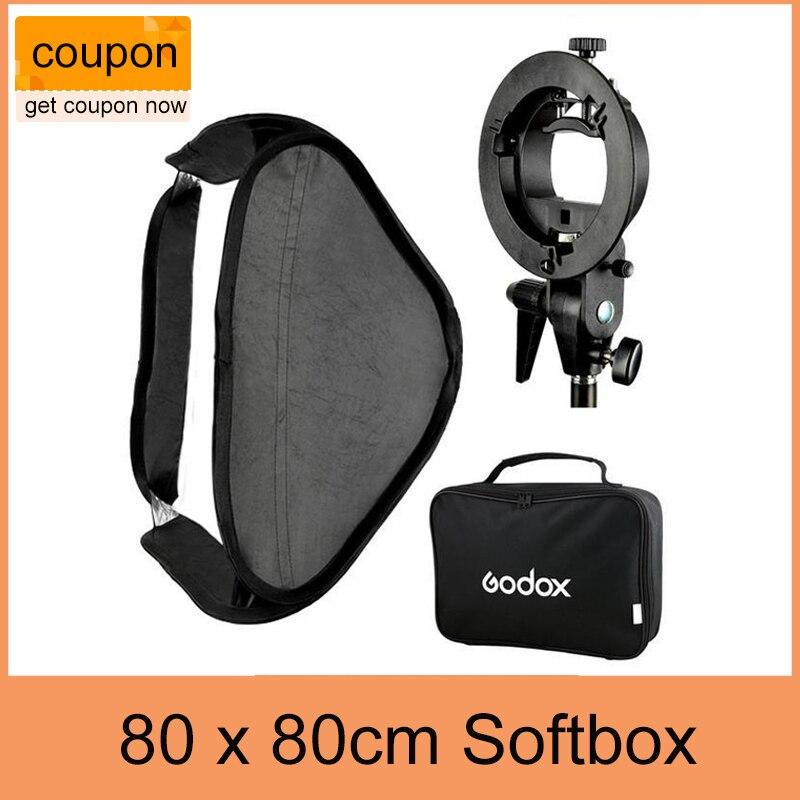 Godox S Type Speedlite Bracket Mount Holder 80 x 80cm Softbox for Studio Photography
