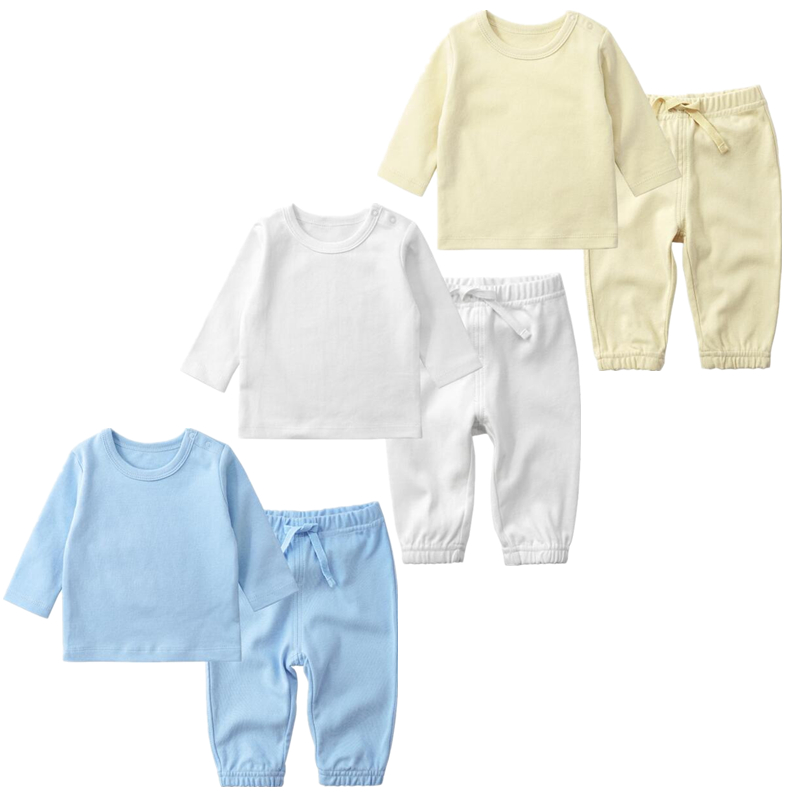 Newborn Baby Girl Clothes 0-2 Years Old Cotton Suit Two Pieces Pants+tops Nightwear Spring And Autumn Clothes For Baby Boy