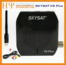 [Auténtica] SKYSAT V9 PLUS con USB Wifi DVB-S2 HD TV Vía Satélite Receptor Apoyo PowerVu Llave Biss Youporn Cccamd Newcamd