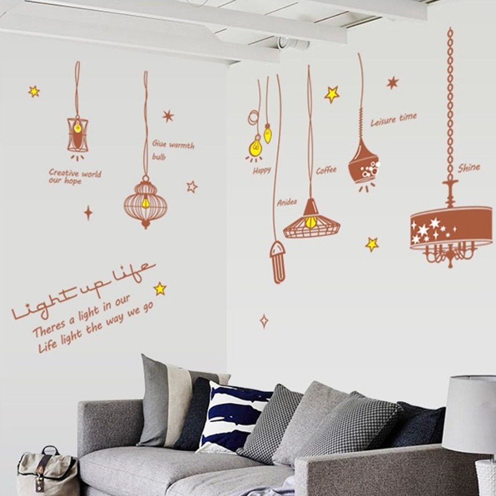 Chandeliers light bulbs wall sticker paper diy home decal art poster chandeliers light bulbs wall sticker paper diy home decal art poster murals kid baby room living room bedroom decorative vinyl in wall stickers from home arubaitofo Gallery