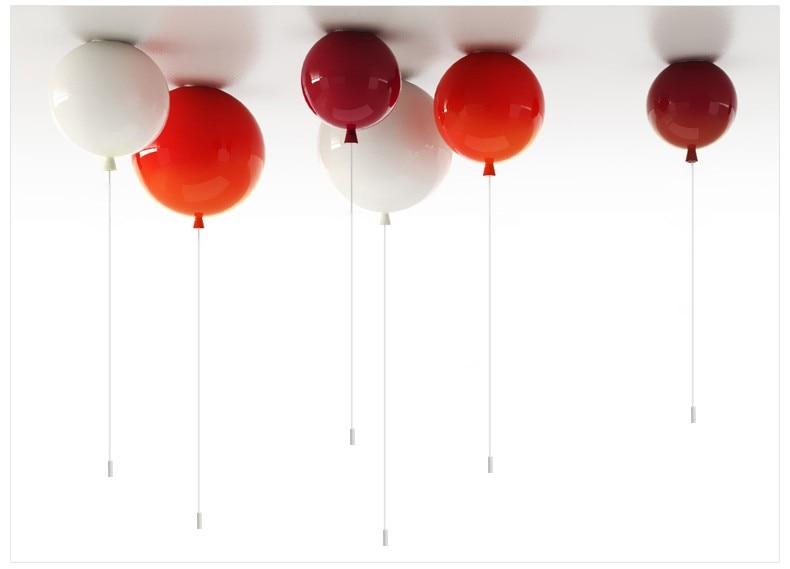ФОТО Lovely ceiling lights Diameter 25cm Multicolor Balloon Lamp Children Bedroom Lights Modern Brief Bedroom Bedside Lamp