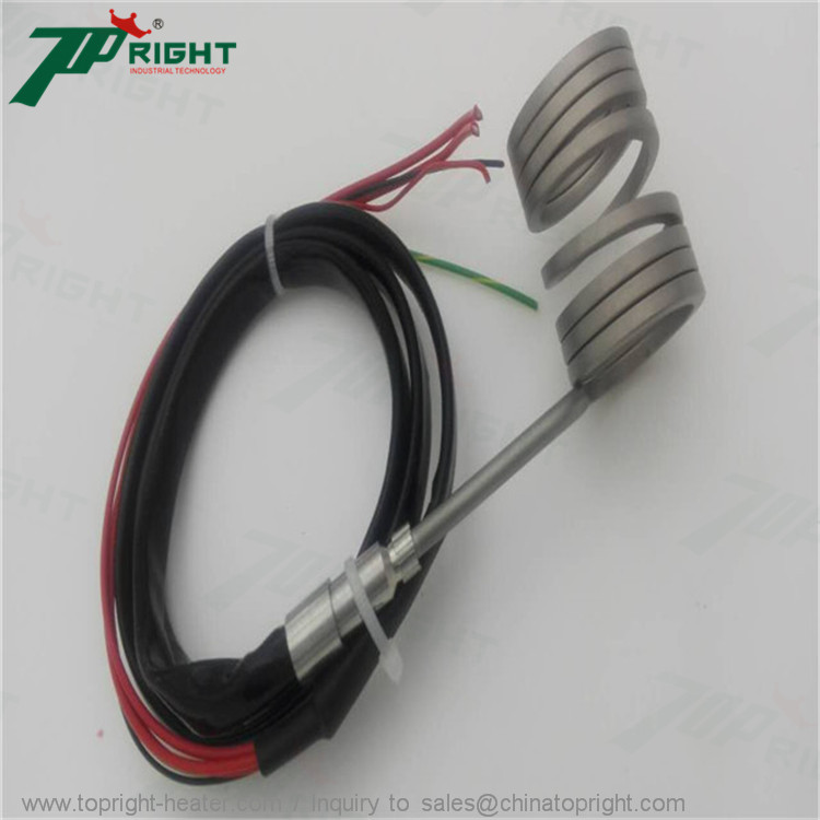 ID16x53mm electric coil heater with silicone fiber sleeve