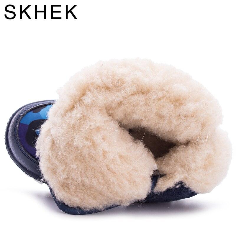 SKHEK Girls Boy Boots Para Niños Botas de Nieve de Invierno Cálido - Zapatos de niños - foto 6