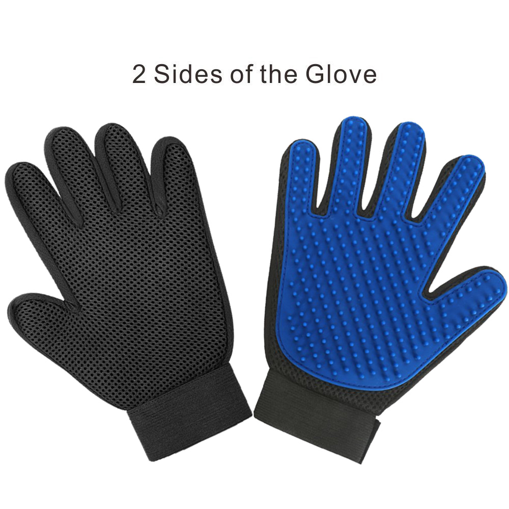 Cat Grooming Glove for Cats Wool Glove Pet Hair Deshedding Brush Comb Glove For Pet Dog Cleaning Massage Glove For Animal 4