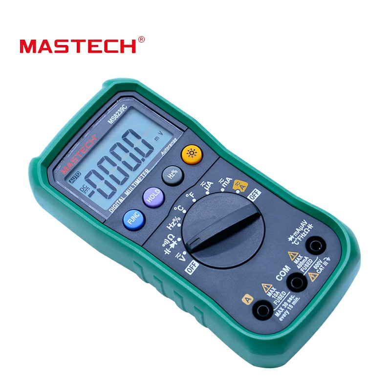 MASTECH 3 Handheld Tester 4 Frequency AC Voltage DC Range Current MS8239C Temperature Auto Digital 3 Capacitance Multimeter