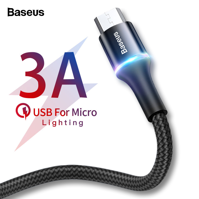 Baseus Micro-Usb-Cable Cables Mobile-Phone Fast-Charging Android 4-Note Xiaomi Redmi