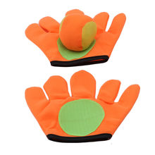 Small/large gloves sticky ball Outdoor Sports Game Throw Catch Balls Toy Gloves Set Sticky Mitts Kids Playing(China)
