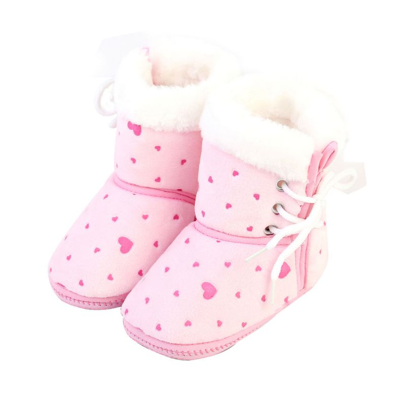 6-12M Baby Winter Shoes Infant Baby Boys Girls Soft Warm Booties Anti Slip Snow Boots Shoes