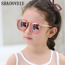 Trendy New Fashion Baby Boys Girls Kids Sunglasses Metal Frame Child Goggles cat eye 2017 lunette de soleil enfant 1913
