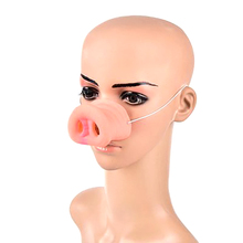 Simulation Funny Pig Nose With Elastic Band Costume Animal Mask Halloween Ball Childrens Day Party маска хэллоуин