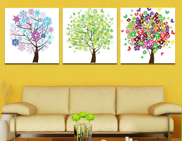 Free Shipping money tree living room wall art Wall Painting Art ...