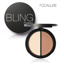 Professional Brand Makeup Two-Color Bronzer & Highlighter Powder Trimming Powder Make Up Cosmetic Face Concealer by focallure