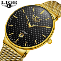 2018 Relojes Hombre Top Brand Luxury Men Watches Men Business Quartz Watch Male Date Waterproof Gold