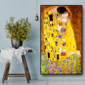Классический художник Густав Климт поцелуй абстрактная живопись маслом на холсте печати плакатов современное искусство настенные картины...