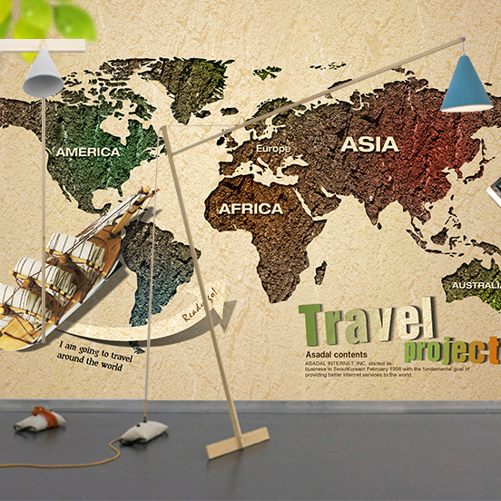 Custom 3d large mural photo wallpaper world map wall paper plane custom 3d large mural photo wallpaper world map wall paper plane boat vinyl home decor for gumiabroncs Choice Image