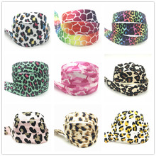 New 12 colors 10Y 15mm Colorful Leopard Patterns Print Fold Over Elastic FOE Ribbon Webbing For Headwear Hair Sewing Accessory