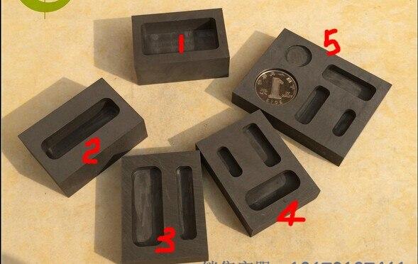 Five hole pure graphite ingot model casting coin