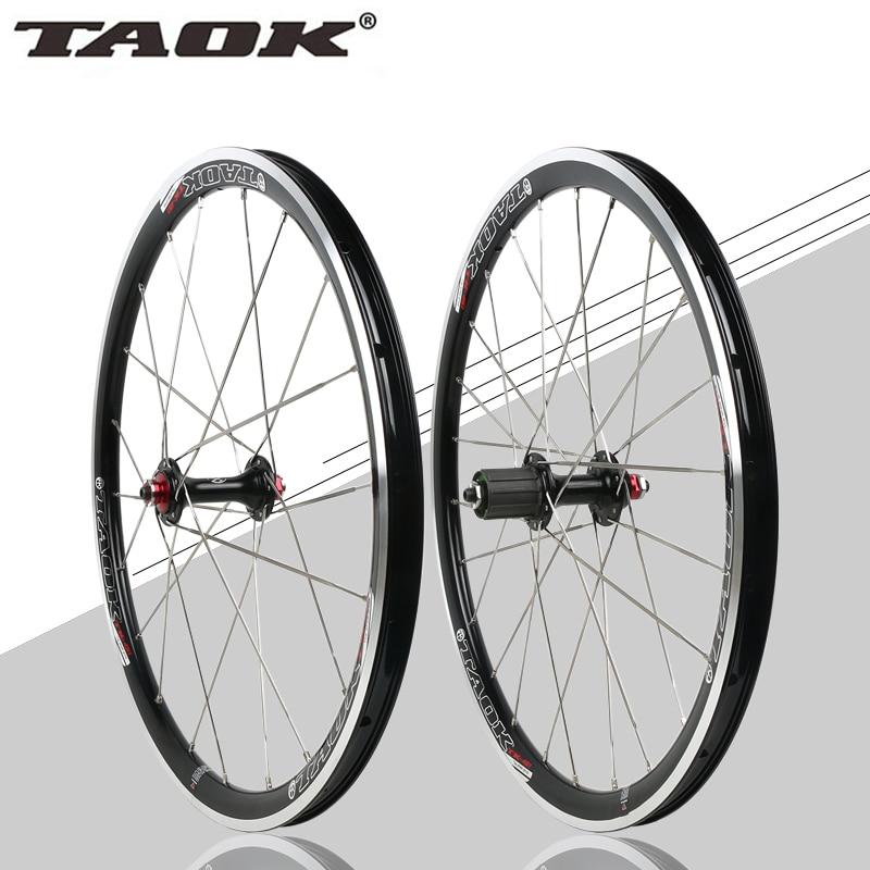 цена на TAOK 20 inch 451 folding bicycle wheel Perrin BMX 451 cassette V brake hub bearing