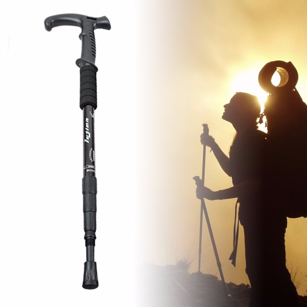 Retractable Anti Shock Walking Sticks Telescopic Trekking Hiking Poles Ultralight Sports Camping Mountaineering Canes Crutch