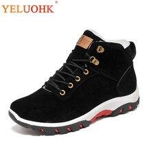 Зимняя обувь для мужчин плюшевые теплые 2018 зимние ботинки мужские Нескользящие мужские ботинки