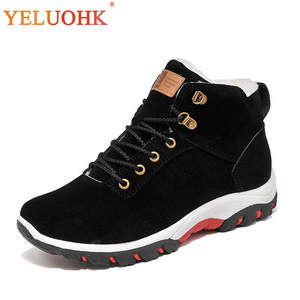YELUOHK Shoes Plush Warm 2018 Winter Men Boots
