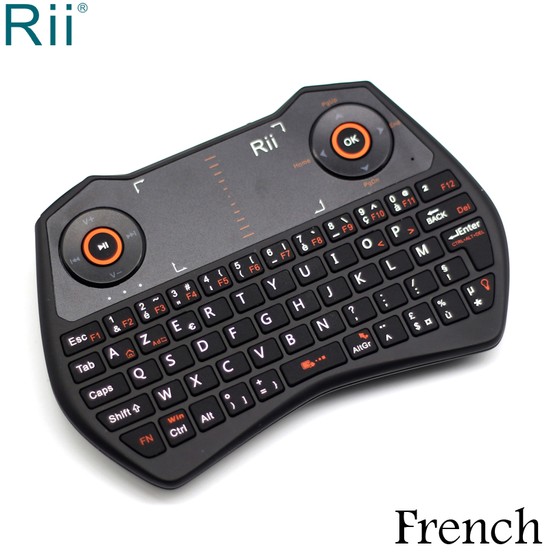 [20pcs] Rii I28 Backlit French Keyboard 2.4GHz Mini Wireless Keyboard Fly Mouse With TouchPad For Android TV Box Mini PC Laptop