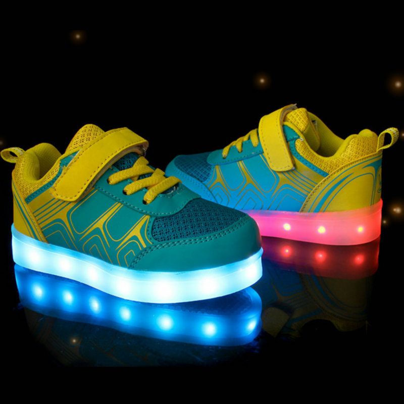 Image 5 - Children Luminous Sneakers 2018 New Spring Kids Sneakers USB Rechargeable Colorful LED Shoes for Girls Boys Shoes With light-in Sneakers from Mother & Kids on AliExpress