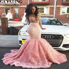Buy pink plus size mermaid prom dresses and get free shipping on ... 0689dd1d9dc0