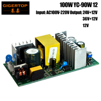 TIPTOP YC 90W 12 100W For 10W Spot Led Moving Head Light Power Supply Small Bare Board 12V+24V Output Voltage Professional