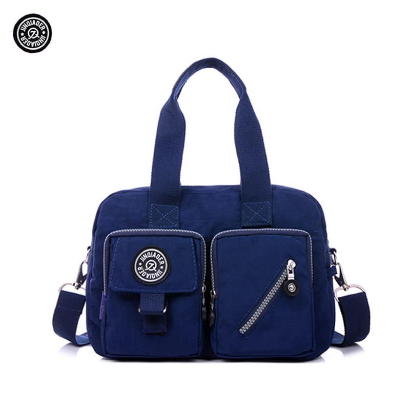Original JINQIAOER Nylon Women's Messenger Bags Women Handbag Travel Casual Bag Shoulder Handbags Fashion Style