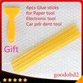 4 pçs/set Hot Melt Glue Sticks 11 MM * 260 MM Melt Cola PDR vara de Trabalho Com Ferramentas Manuais Pistola de Cola Quente Cola Plástica Pá