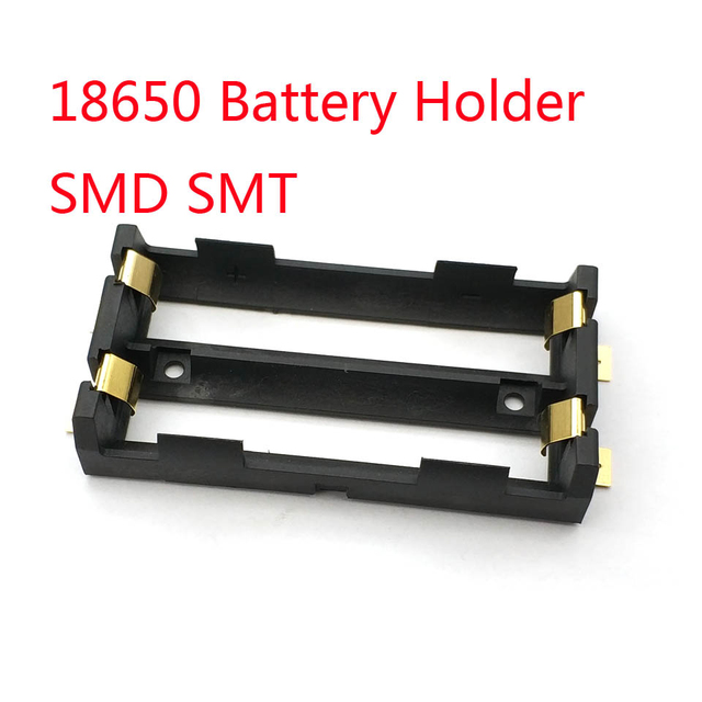 2X18650 סוללה מחזיק SMD SMT גבוהה באיכות סוללה תיבה עם ברונזה סיכות TBH 18650 2C SMT