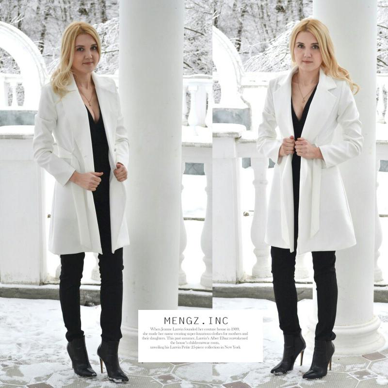 RichLuLu Bialy Blazer Kobiety Odzież Belt Biuro Panie Długi Rękaw Elegancka Kurtka Kobiet Głęboki Dekolt Blazer Cardigans 6