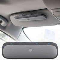Bluetooth Handsfree Car Kit Wireless Bluetooth Speaker Phone MP3 Music Player Sun Visor Clip Speakerphone with Car Charger