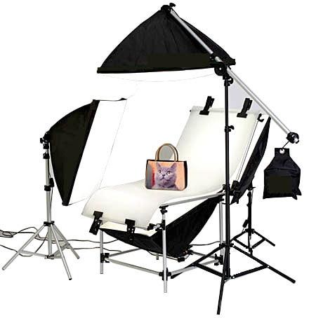 Stüdyo Fotoğraf Aydınlatma Çekim Masa Takımı Ile 50 cm X 70 CM - Kamera ve Fotoğraf