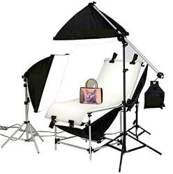 Studio Photo Lighting Shooting Table Kit With 50cm X 70CM Softbox Kit  Photographic Equipment shooting kit FREE SHIPPING CD50