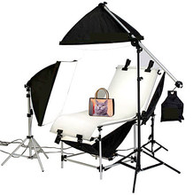Studio Photo Lighting Shooting Table Kit With 50cm X 70CM Softbox Kit Photographic Equipment shooting kit FREE SHIPPING CD50